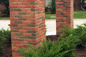 Red brick post
