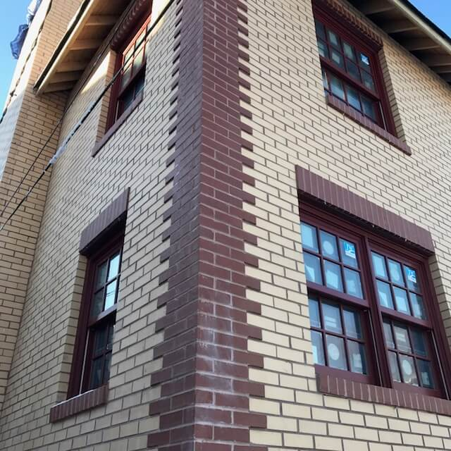Red brick corner design